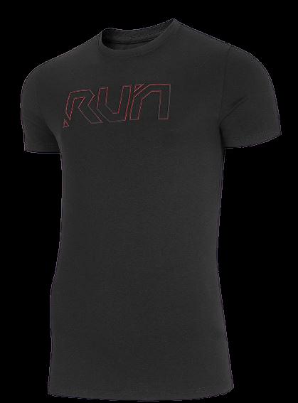 T-shirt męski 4F TSM026 bawełniany czarny