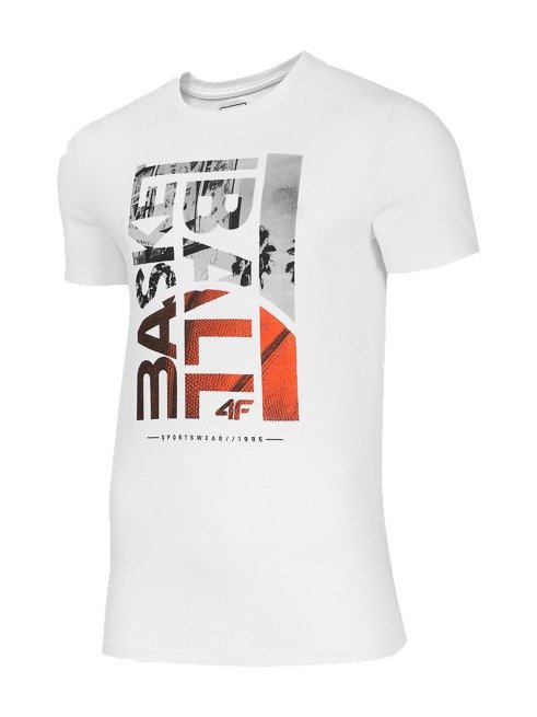 T-shirt męski 4F TSM031 BIAŁY
