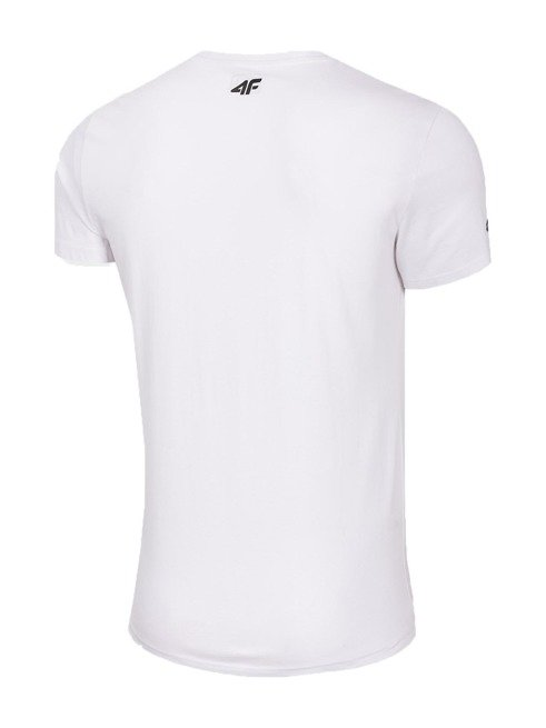 T-shirt męski 4F bawełna TSM029 BIAŁY