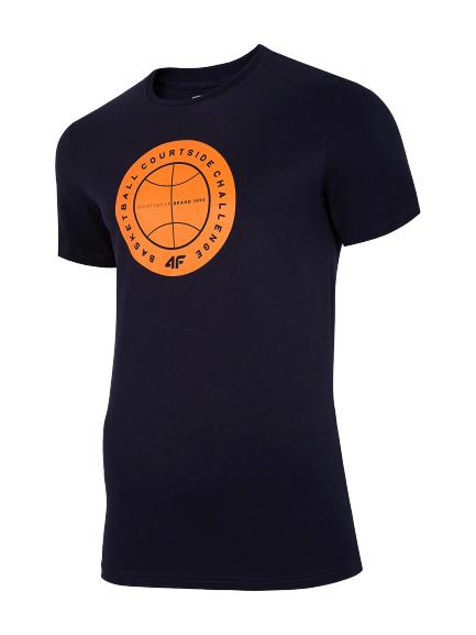 T-shirt męski 4F koszulka TSM027 granatowa