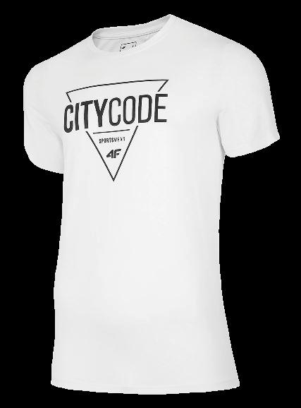 T-shirt męski 4F koszulka bawełna TSM011 biała