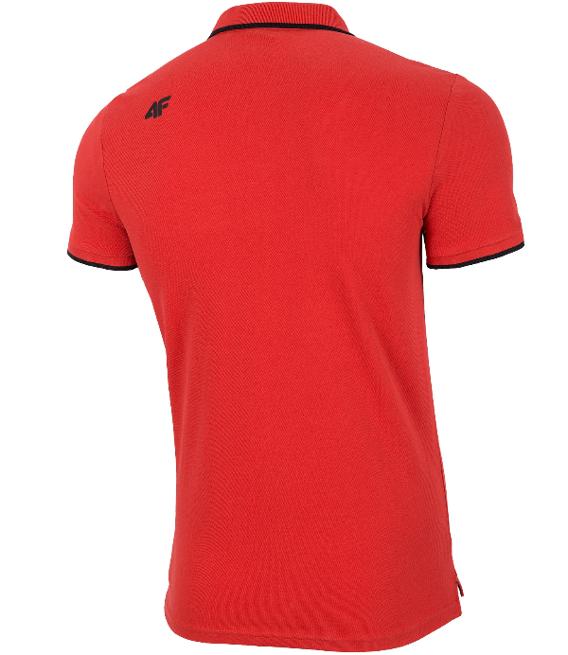 T-shirt męski 4F koszulka polo TSM024 czerwona