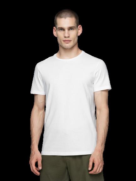 T-shirt męski OUTHORN TSM600 biały bawełniany