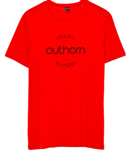 T-shirt męski OUTHORN TSM600A bawełna czerwień