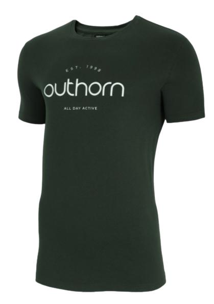 T-shirt męski OUTHORN TSM625 zielony