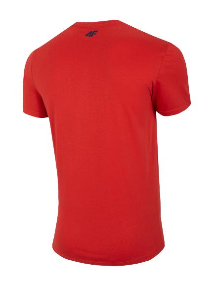 T-shirt męski bawełniany 4F TSM024 czerwony