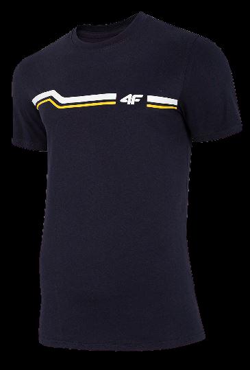 T-shirt męski bawełniany 4F TSM024 granat