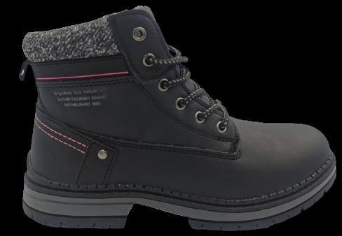 Trapery damskie ocieplane B8377-1 buty zimowe