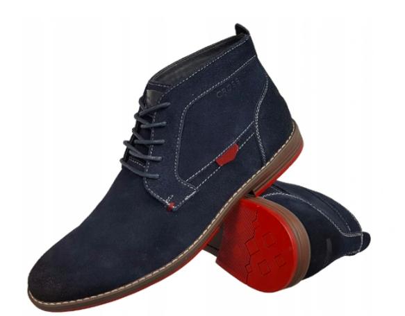 Trzewiki Cross Jeans buty EE1R4063C granatowe