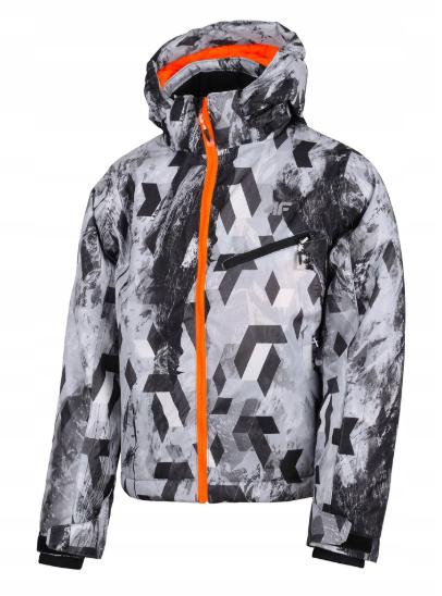 kurtka narciarska chłopięca 4F JKUMN001 szara