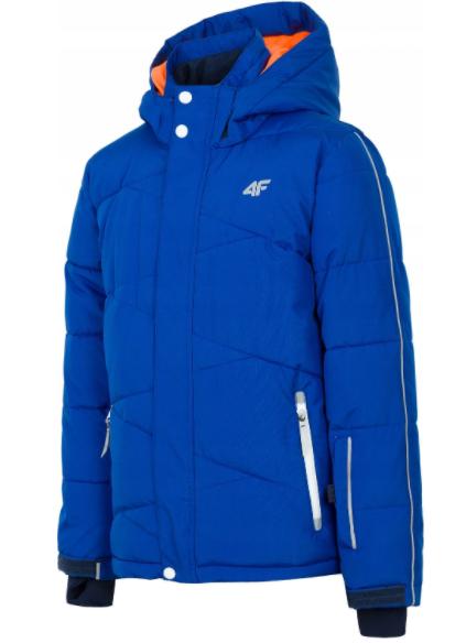 kurtka narciarska chłopięca JKUMN002B niebieska 122